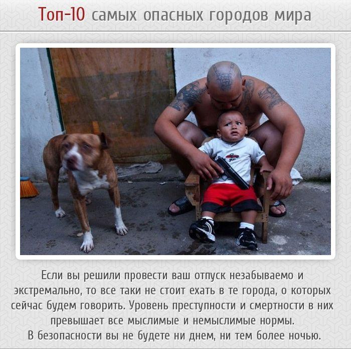 ТОП-10 опаснейших городов в мире (11 фото)