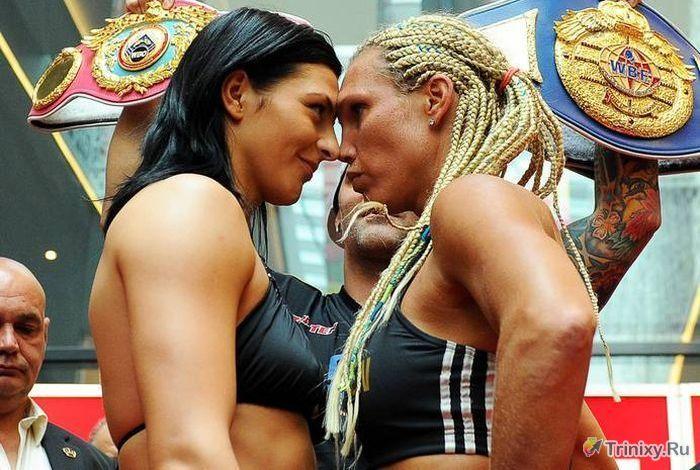 Неожиданный момент перед боксерским поединком (9 фото)