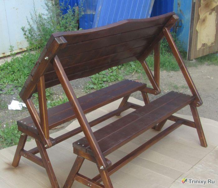 Стол скамейка своими руками фото