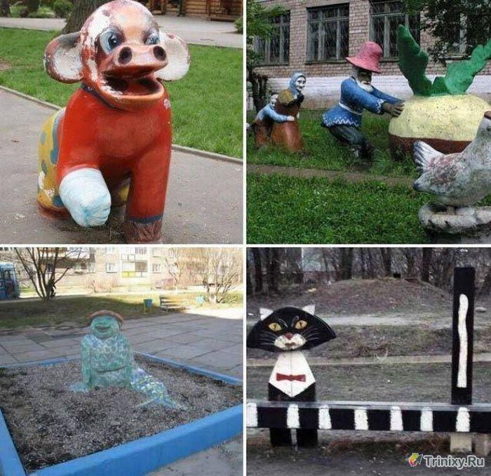 Жуткие детские площадки (37 фото)