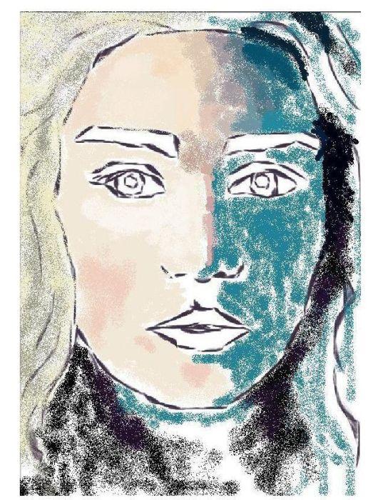 """Классный портрет, нарисованный в """"Paint"""" (9 фото)"""