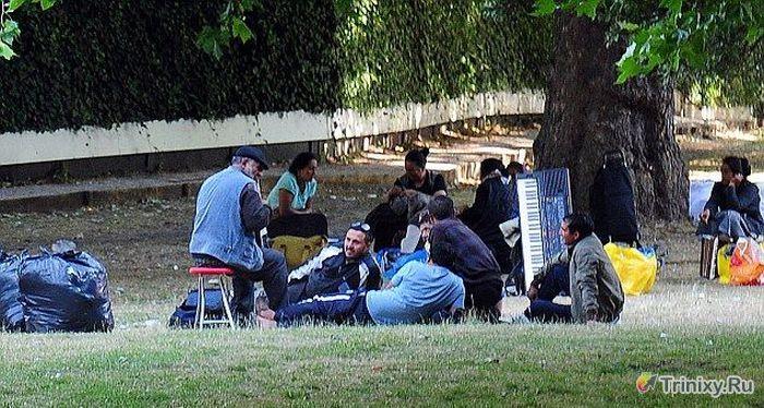 Румынские цыгане на улицах Лондона (15 фото)
