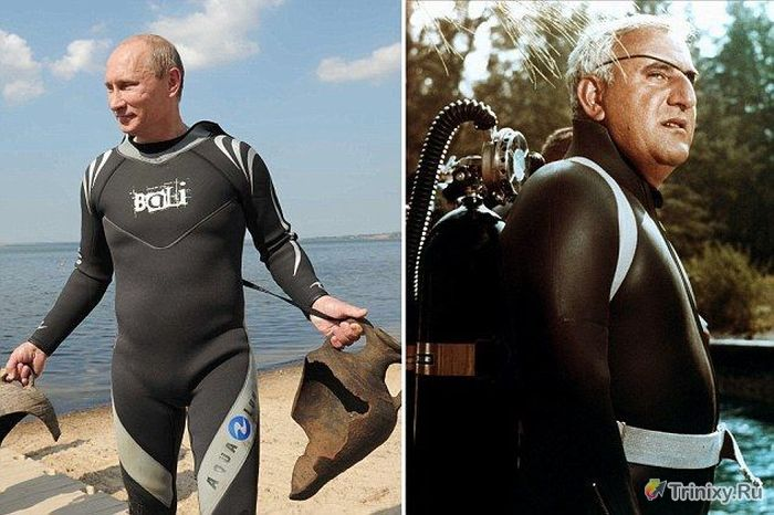 Владимир Путин в роли врага Джеймса Бонда (8 фото)