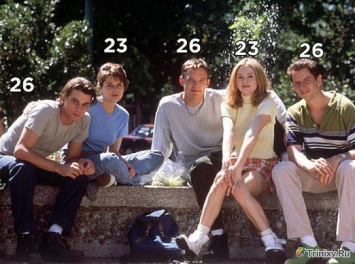 Настоящий возраст актеров, сыгравших школьников в сериалах (13 фото)