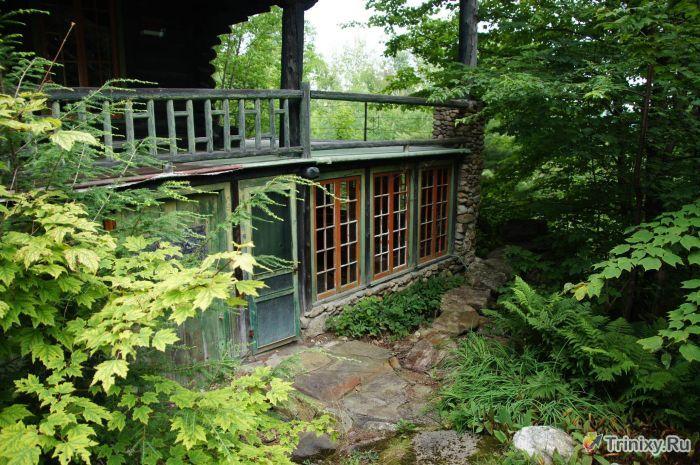 Заброшенный дом в лесу (46 фото)
