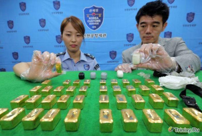 Необычная контрабанда золота (4 фото)