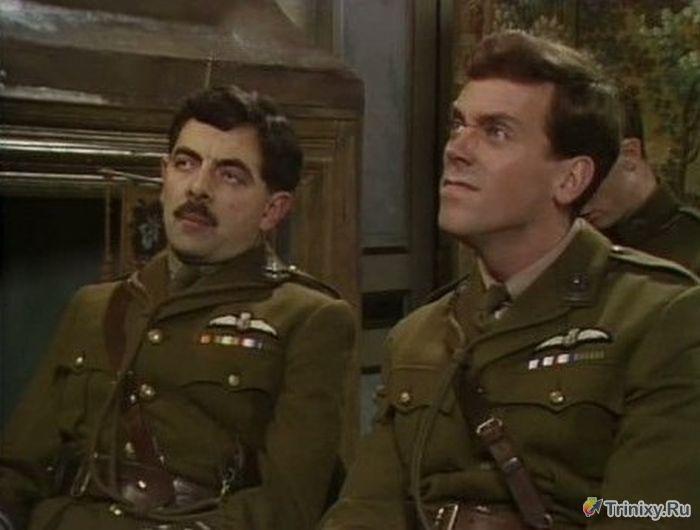Хью Лори и Роуэн Аткинсон в старом кинофильме (3 фото)