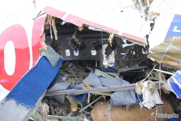 Разбитый самолет в аэропорту Домодедово (30 фото)