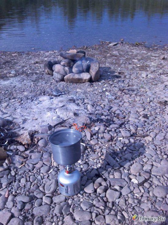 Ира Булынина: Делаем баню на берегу реки из подручных средств (10 фото) .