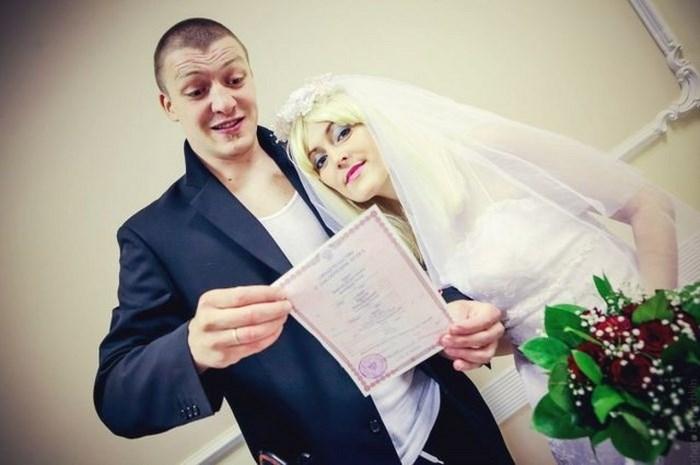 """Колоритная свадьба """"чётких молодоженов"""" (36 фото)"""