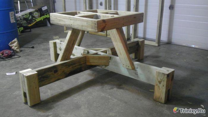 Креативный стол для пикника своими руками (21 фото)