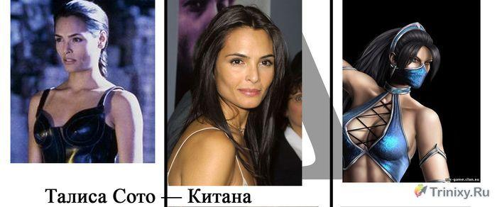 """Персонажи Mortal Kombat """"тогда, сейчас и в видеоигре"""" (9 фото)"""