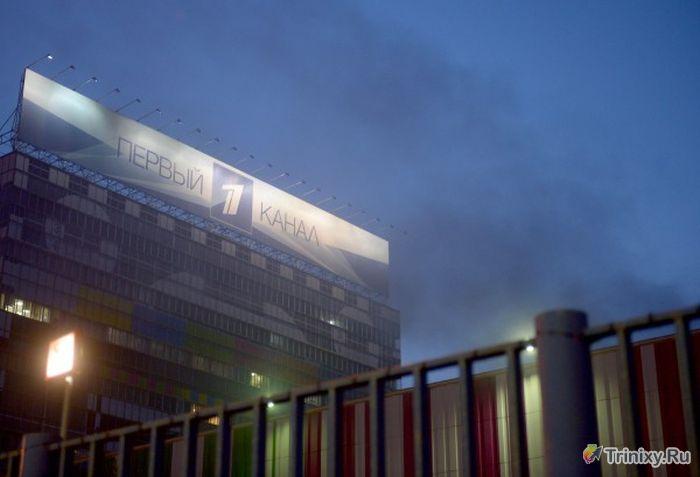"""Пожар в телецентре """"Останкино"""" (7 фото + 2 видео)"""