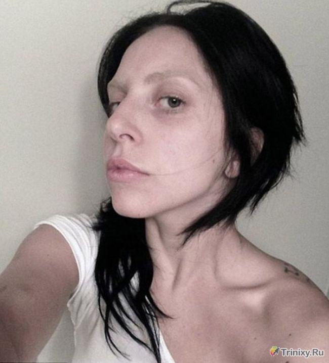 Леди Гага без косметики и макияжа (1 фото)
