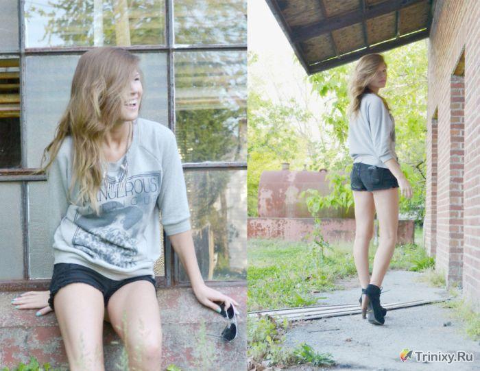 Сексуальные девушки в джинсовых шортах (72 фото)