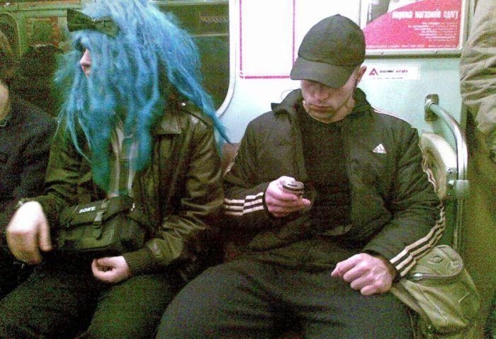 Кого можно встретить в метро (73 фото)