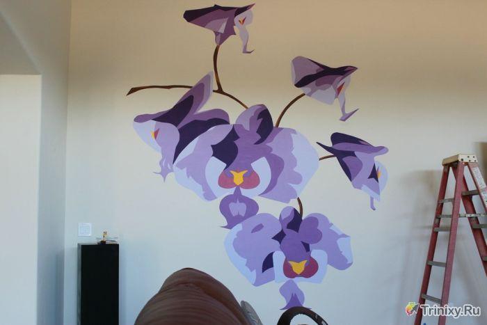Фреска с орхидеями своими руками (9 фото)