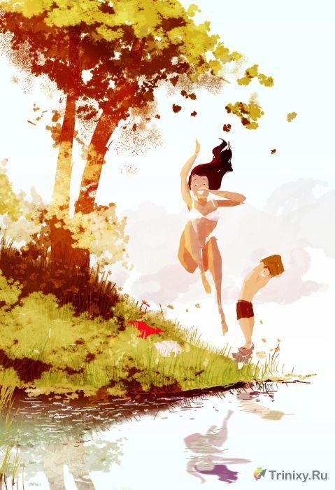 Мгновения истинного счастья (50 рисунков)