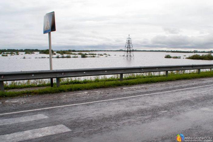 Как выглядит наводнение в Хабаровском крае с высоты птичьего полета