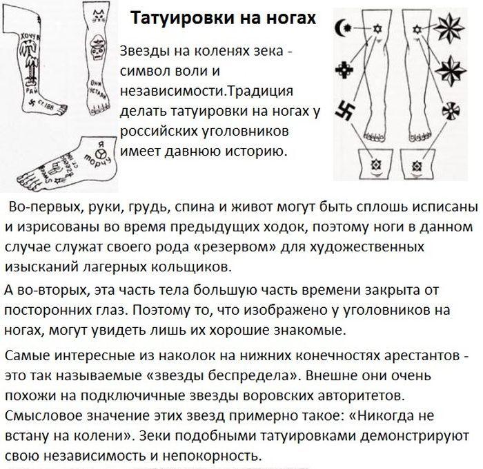 Татуировки и их значение. фото