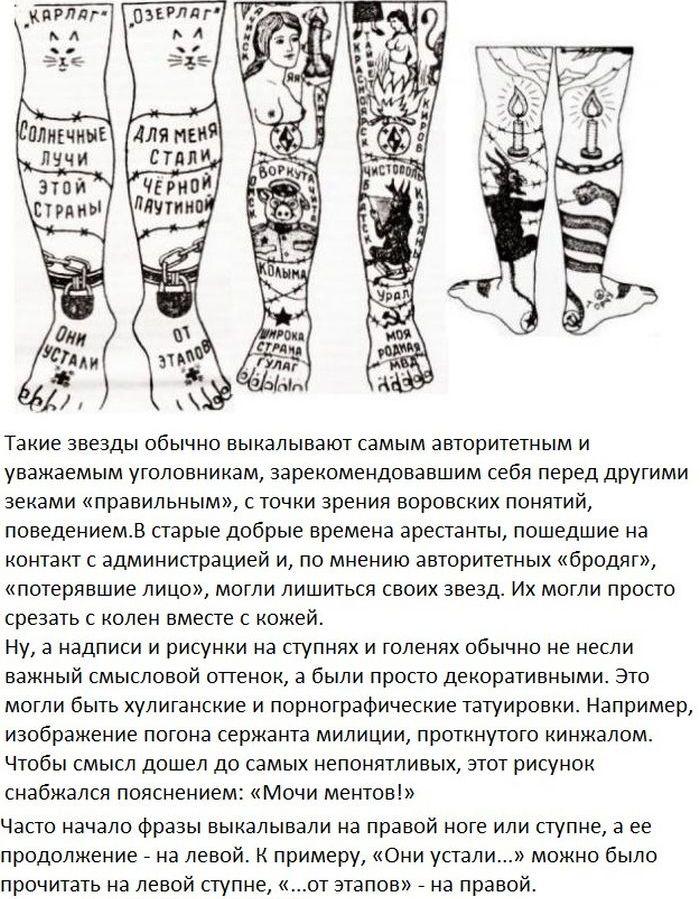 татуировки тюремные и их значения фото