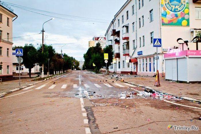 Последствия дня города в Солнечногорске (10 фото)