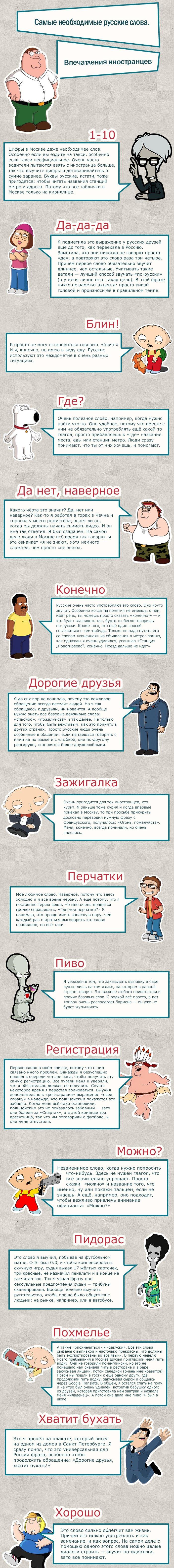 Самые распространенные слова в русском языке (2 фото)