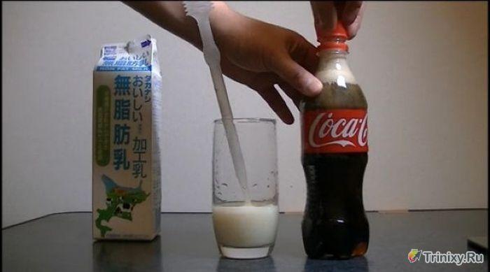 Эксперимент с колой и молоком (13 фото)