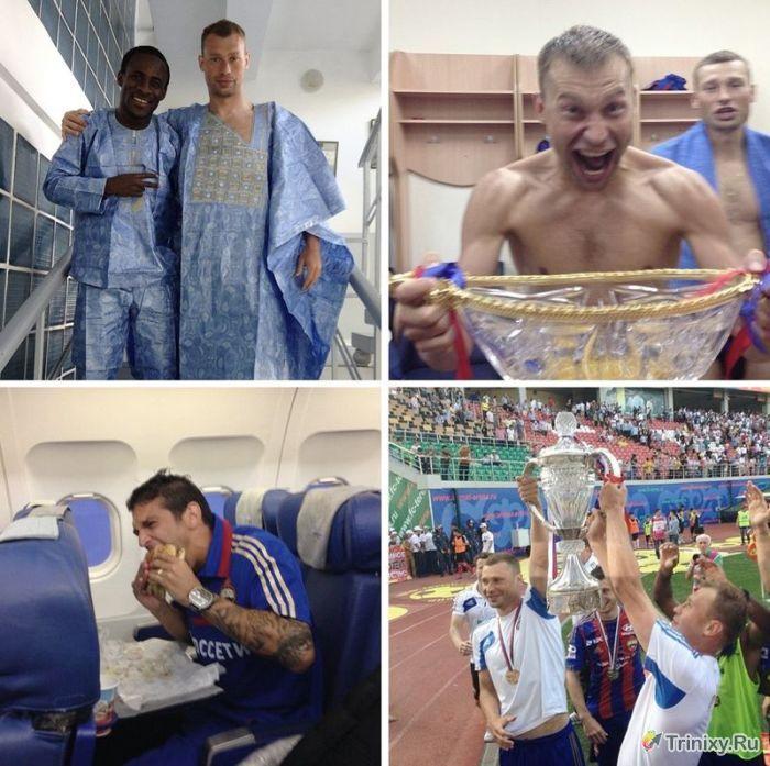 Снимки Российских футболистов в Instagram (9 фото)