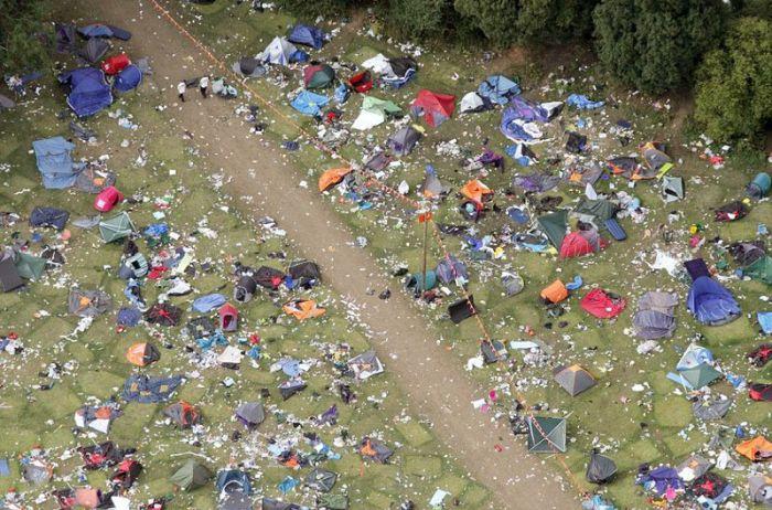 Последствия музыкального фестиваля (7 фото)