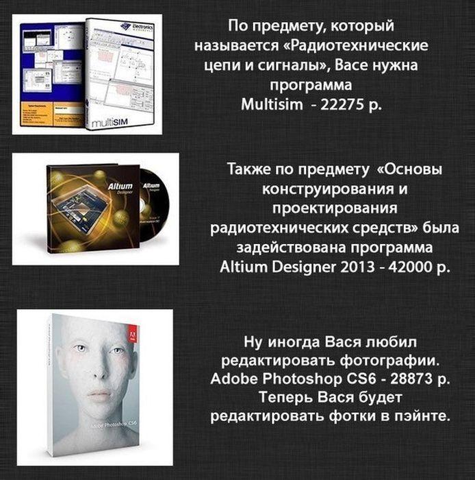 Жизнь студента и программное обеспечение (9 картинок)