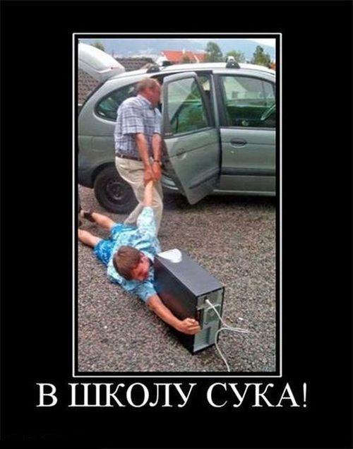 В ШКОЛУ СУКА!demotivators.ru. приколы про школьников,приколы про школу