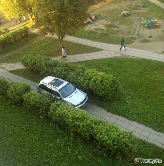 Когда водителю плевать на всех (7 фото)