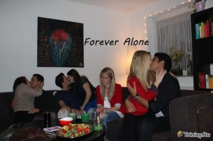 """Forever Alone"" - это диагноз (51 фото)"