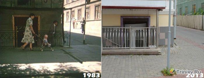 """Места, в которых снимались """"Белые росы"""" в стиле """"тогда и сейчас"""" (20 фото)"""