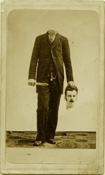 Старинные фотографии людей без головы (15 фото)
