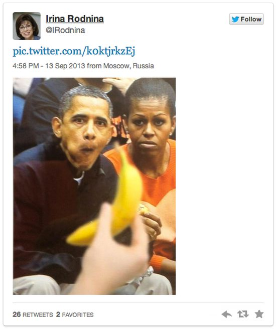 """""""Банан не мой"""" - фото президента Обамы (11 фото)"""