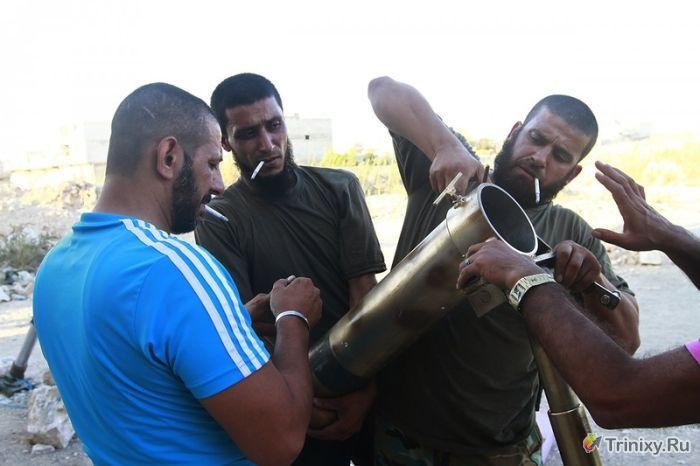 Сирийское переделанное оружие (21 фото)