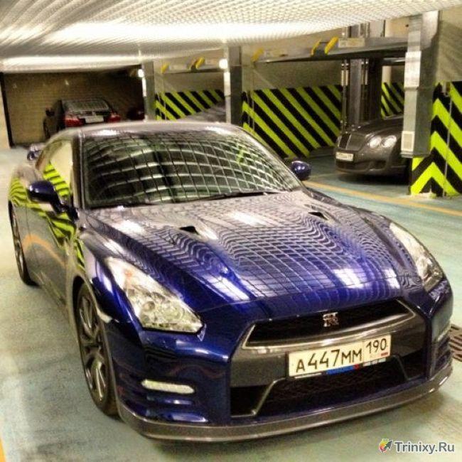 Девушка разбила вдребезги заряженный Nissan GT-R (7 фото + видео)
