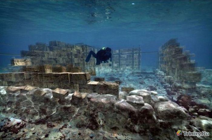 Факты о древних городах, которые оказались на дне океана (45 фото)