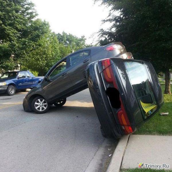 Курьезы и странные случаи на дорогах (39 фото)