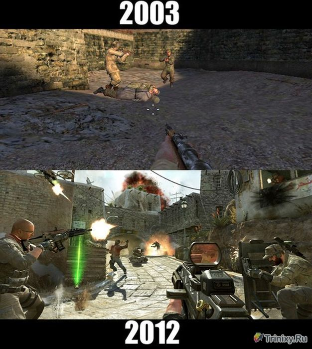 Как изменились игры из нашего детства (9 фото)
