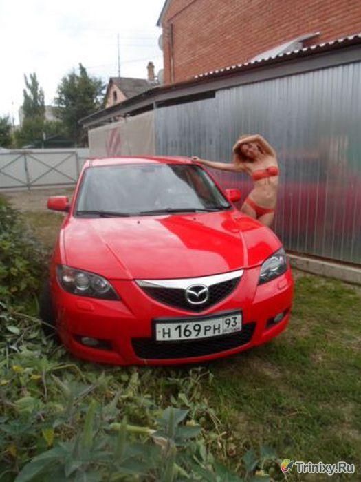 Девушка продает свой автомобиль (6 фото)