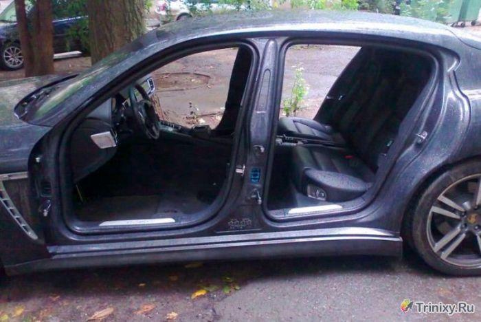 Суровые автограбители в Ростове-на-Дону (3 фото)