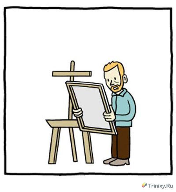 История известного художника в забавном комиксе (3 картинки)