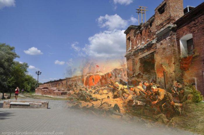 """Брестская крепость """"тогда и сейчас"""" (27 фото)"""