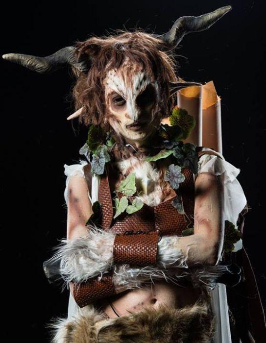 Подборка пугающего макияжа (41 фото)
