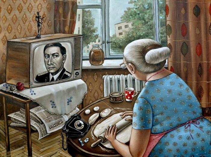 Картины Анжелы Джерих - сюжеты, близкие только для русскому человеку (22 картинки)