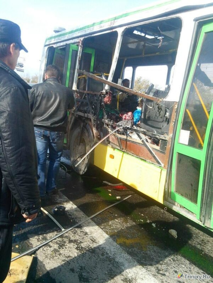 Теракт в Волгограде: смертница взорвала пассажирский автобус (8 фото + 2 видео)
