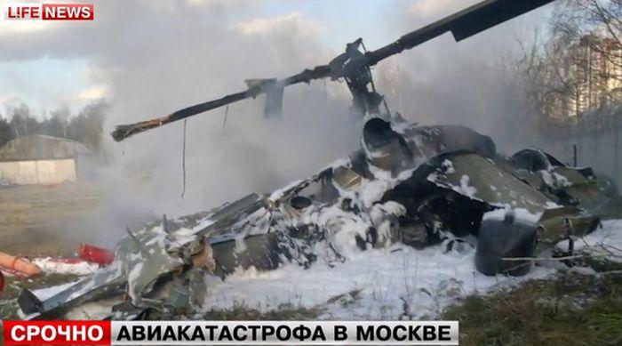 Крушение вертолета в Жулебино (3 фото + 2 видео)